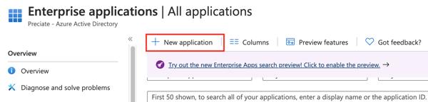 AAD 2 - Create New Enterprise App