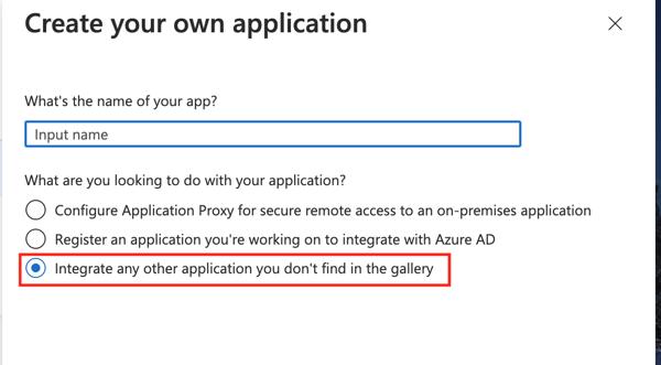 AAD 4 - Name Custom App