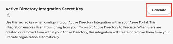 AAD 9 - AD Integration Key