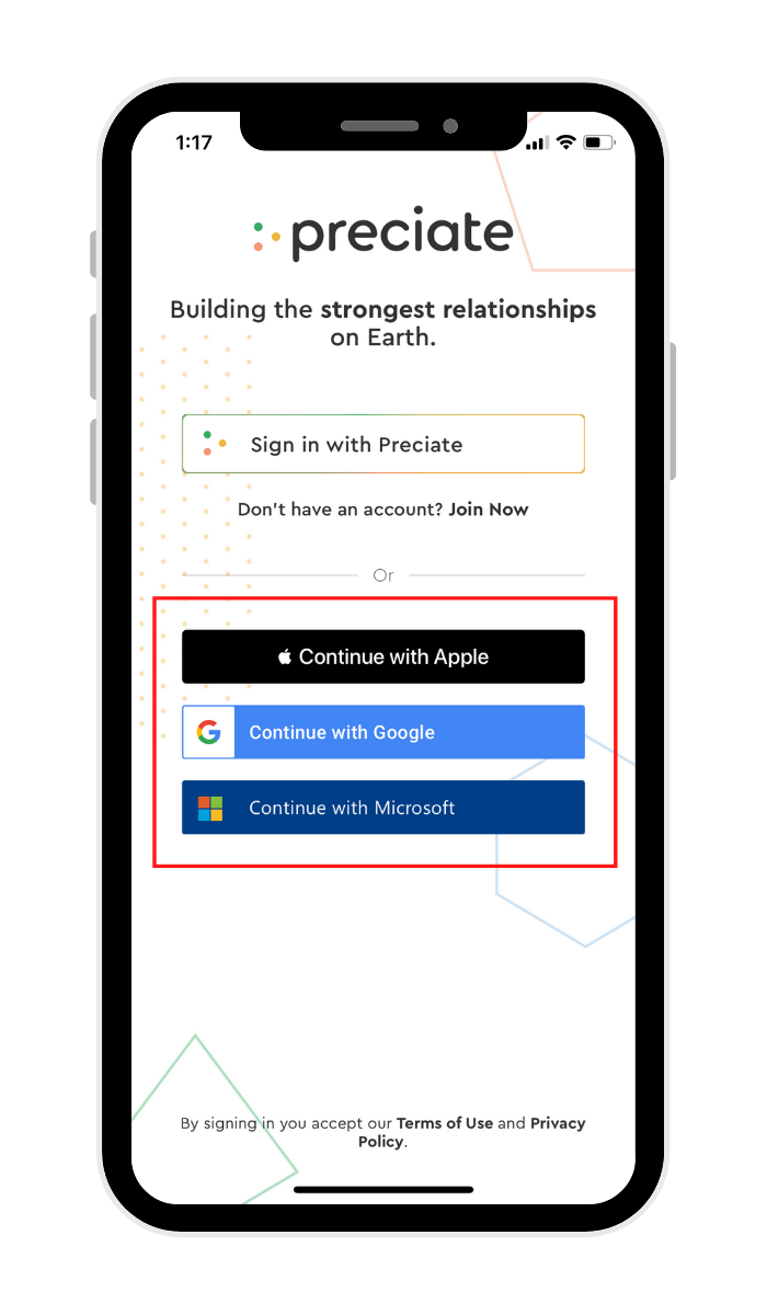 Third party login options mobile (1)