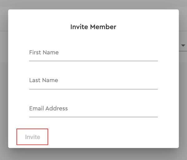 invite member card