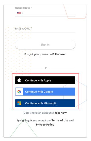third party sign ups on web app